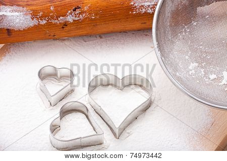 Cookie Cutters And Rolling Pin