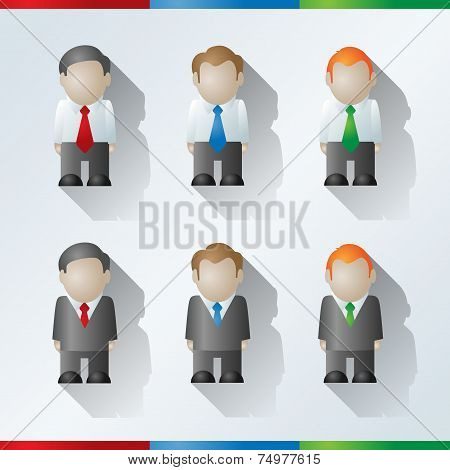 Vector Cartoon Businessmen