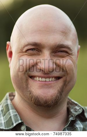 Happy Smiling Bald Man