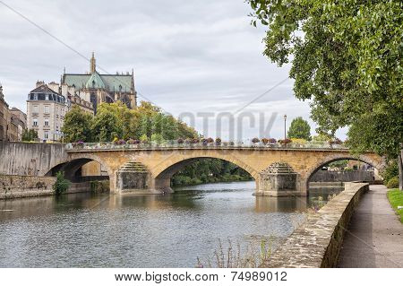 Pont Saint Georges In Metz, France
