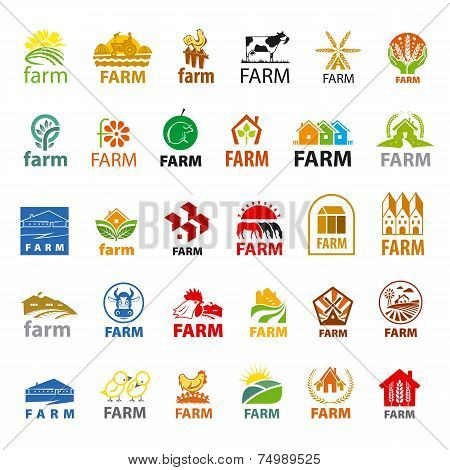 Large Set Of Vector Icons Farm