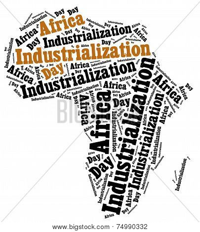 Africa Industrializaion Day. Word Cloud Illustration.