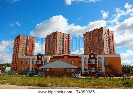 Houses in a new area.