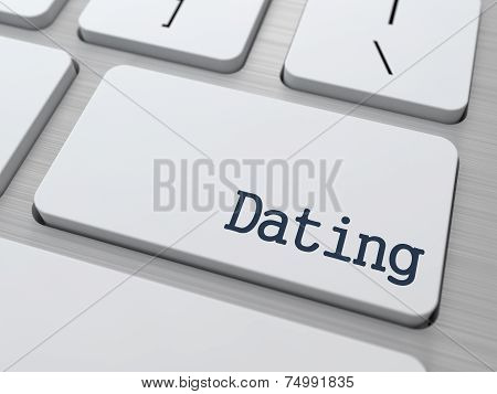 Dating Button on Computer Keyboard.