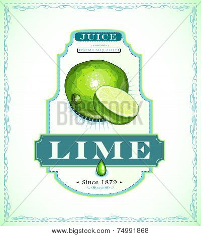 Lime juice label
