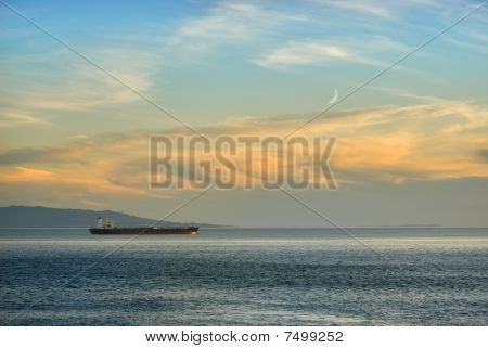 Ship In Twilight