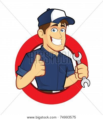 Mechanic with Circle Shape