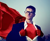 image of transformation  - Strong Superhero Businessman Transforming Concepts - JPG