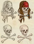image of dread head  - Pirates Skulls  - JPG