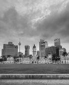 stock photo of kuala lumpur skyline  - Malaysia city skyline with famous buildings - JPG