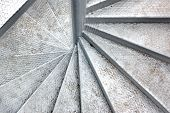 picture of spiral staircase  - Metal Spiral Staircase - JPG