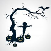 pic of scarecrow  - Silhouettes of scarecrow - JPG