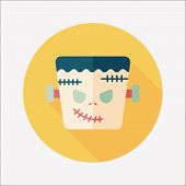 picture of frankenstein  - Frankenstein Flat Icon With Long Shadow - JPG