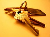 picture of locksmith  - ring of keys on a yellow background - JPG