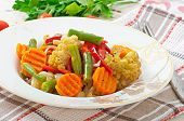 picture of steam  - Steamed vegetables  - JPG
