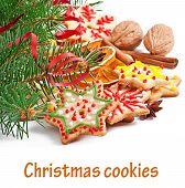 stock photo of christmas spices  - Christmas cookies - JPG