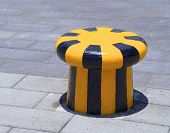picture of bollard  - The close view of new bollard near harbor - JPG