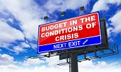 stock photo of macroeconomics  - Budget in the Conditions of Crisis  - JPG