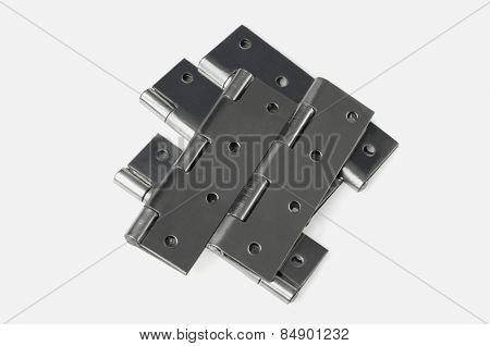 Close-up of door hinges