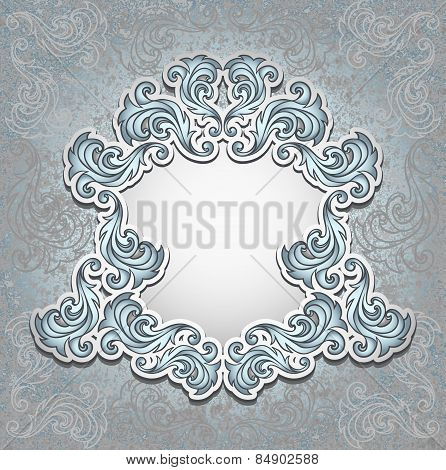 Vintage frame in silver color