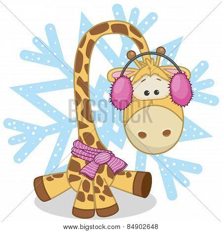 Giraffe In A Fur Headphones
