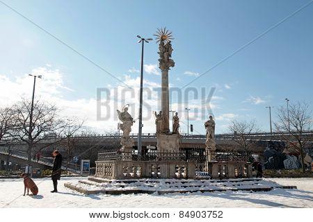 Plague Column Of St.trinity, Bratislava, Slovakia