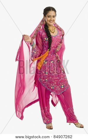 Portrait of a woman in salwar kameez