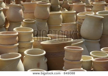 pots on a middle east market
