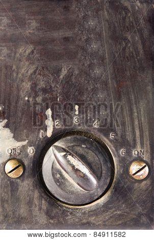 Close-up of a fan regulator