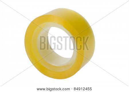 A roll of adhesive tape