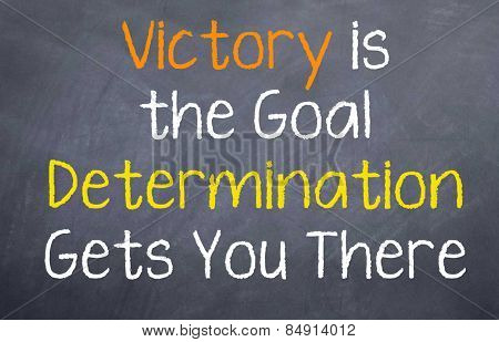 Determination leads to Victory