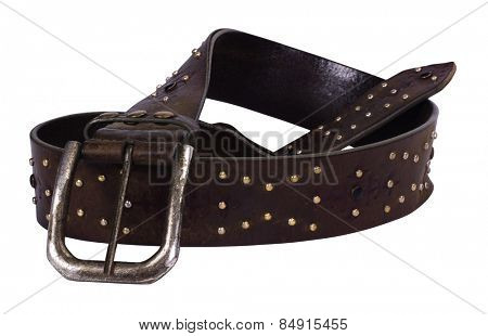 Close-up of a leather belt