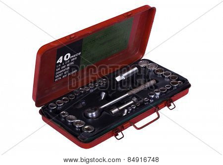 Socket wrenches in a toolbox