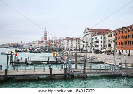 Docks At Riva Degli Schiavoni