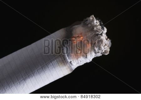 Close-up of a burning cigarette