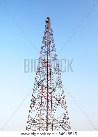 Telecommunication Antenna Tower Clear Sky