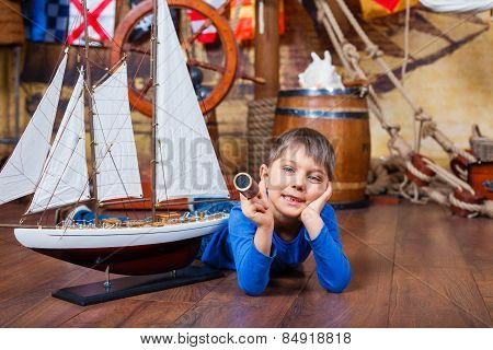 Boy with ship
