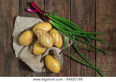 Potatoes And Green Onion