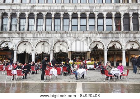 People In Restaurant On San Marco Square