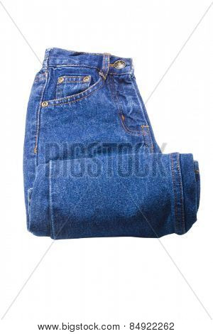 Close-up of a rolled up jeans