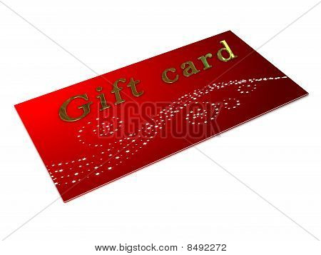 Gift Card Over White Background
