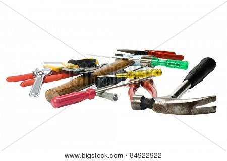 Close-up of assorted hand tools
