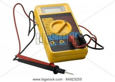 Close-up of a digital multimeter