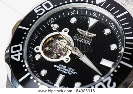 Seoul, Korea - August 21, 2013: Editorial image of Invicta Grand Diver