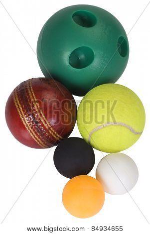 Close-up of assorted balls