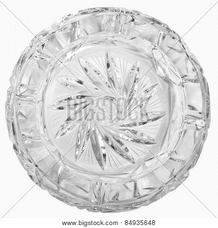 Close-up of a crystal ashtray