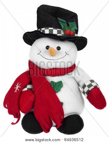 Stuffed snowman toy