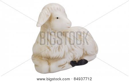 Close-up of a figurine of a lamb