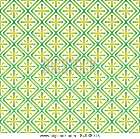 Green Plus Sign And Rectangle Seamless Pattern On Pastel Background