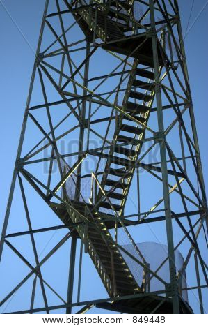 Stairs And Beams On Fire Tower
